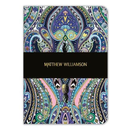 Purple Paisley Lined Journal / Notebook by Matthew Williamson